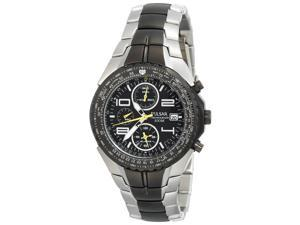 Pulsar PF3183 Men's Two Tone Black Ion Alarm Chronograph Watch