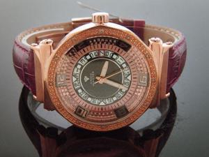 AQUA MASTER LADY 40MM ROUND 12 DIAMOND WATCH ROSE GOLD CASE WHITE FACE
