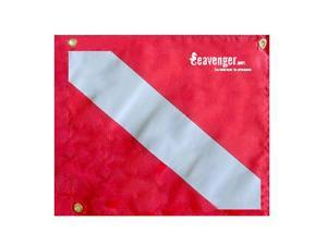 "Vinyl Dive Flag 14"" x 16"" Scuba Diving Safety"
