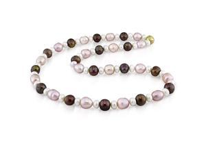 Multi-colored Freshwater Pearl Necklace (8-9 mm)