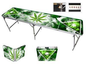 Smoke Haze Beer Pong Table 8ft - Premium HD Design - Bottle Opener, Ball Rack, & 6 Pong Balls!