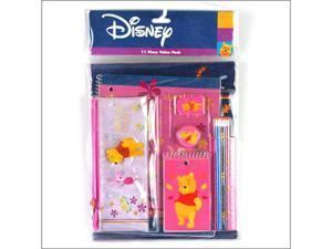 Winnie the Pooh 11 Piece Value Pack Purple & Pink Stationery Set