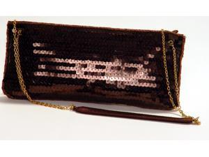 LA Regale Clutch Evening Sequence Purse Bronze