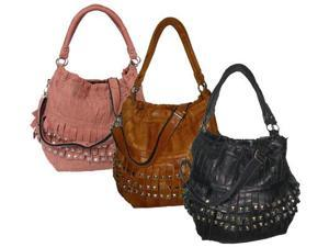 Studded Tutu Leather Handbag (#1720-1)