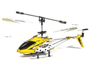 Syma S107 Mini RC Helicopter Metal Series with Gyro - Yellow