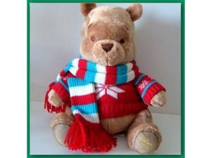 Disney 08' Winter Pooh with Sweater and Scarf Plush