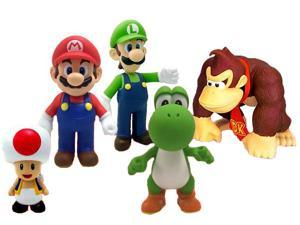 "Super Mario 5"" Vinyl Figure Set Of 5"