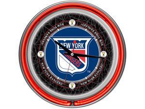 NHL Vintage New York Rangers Neon Clock - 14 inch Diameter
