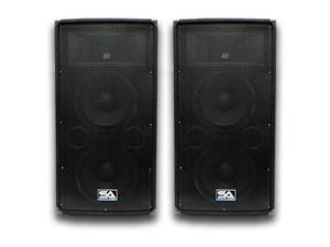 Seismic Audio - Two Dual 10 Inch PA/DJ Speaker Cabinets Live Sound Audio Karaoke