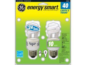 GE Lighting 49907 2 Count 10 Watt Spiral CFL Light Bulb