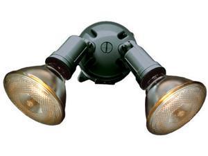 """Bell Outdoor 5625-7 4"""" Bronze Round Dual Lampholders"""