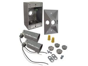 Bell Outdoor 5818-5 75 To 150 Watt Gray Rectangular Dual Lampholder Kits