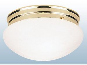 Westinghouse Polished Brass Two Light Flush Mount Dome Ceiling Fixture