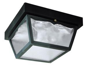 Westinghouse Black 2 Light Black Exterior Hi-Impact Polypropylene Porch Light