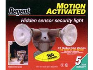Regent Lighting Bronze Motion Activated Hidden Sensor Twin Halogen Security Lights