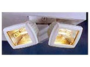 Regent Lighting 150 Watt White Twin Halogen Quartz Flood Lights
