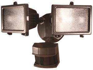 Heathco Bronze 300 Watt Bronze Quartz Halogen Motion Sensing Twin ...