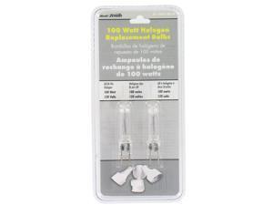 Heathco SL-5591-A2 2 Count 100 Watt Bi-Pin Halogen Bulbs