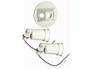 "Bell Outdoor 5625-6 4"" White Round Dual Lampholders"