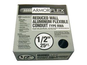 "Southwire 55082121 1/2"" X 25' Armor Flex® Reduced Wall Flexible Aluminum Condui"