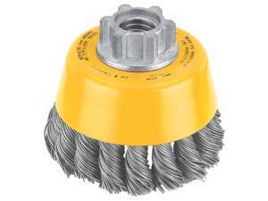 "Dewalt DW4910 3"" Knotted Steel Cup Wire Brush"