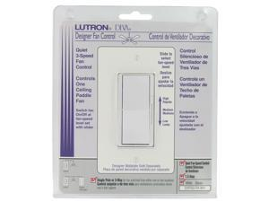 Lutron DVFSQ-FH-WH 3 Speed White Diva® Quiet Fan Control