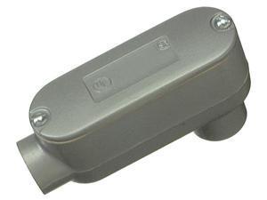 "Halex 58615 1-1/2"" Aluminum Conduit Body With Cover & Gasket Type LB"