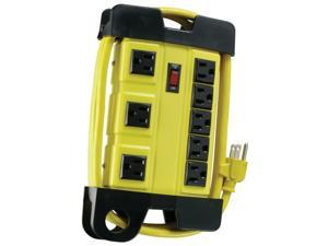 Coleman Cable 04655-88-06 8 Outlet Heavy-Duty Metal Housing Workshop Surge Protector