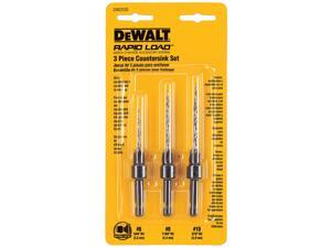 Dewalt DW2535 3 Piece Drill Countersink Set