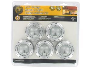 Good Earth Lighting SUNSPOT Stainless Steel 5 Count Xenon Puck Lights