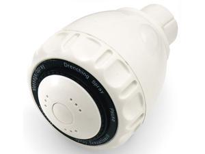 Plumb Craft Waxman 7654710B Body Moods Fixed Shower Head - White