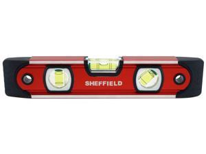 "Sheffield 58640 9"" Magnetic V-Groove Torpedo Level"