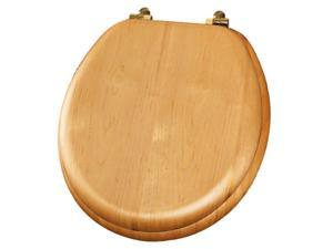 Mayfair 9601BR-378 Round Natural Oak Natural Reflections® Toilet Seat