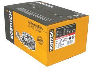 Bostitch Stanley C12P120D 2,700 Count 12D Coated Plain Shank Coil Nails