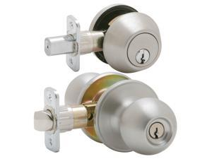 Dexter JC60VJ54VCNA630 Satin Stainless Steel Corona Keyed Entry Knob & Deadbolt Combo