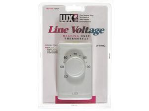 Lux LV1-005 1-Pole Heating Only Line Voltage Thermostat