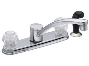 MOEN CA87681 Touch Control Two Handle Low Arc Kitchen Faucet - Chrome