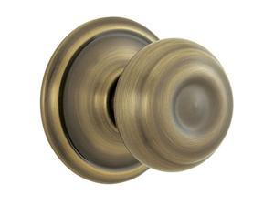 Schlage F10VGEO609 Antique Brass Georgian Knob Passage Set