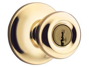 Kwikset 94002-444 Polished Brass Tylo Entry Knob