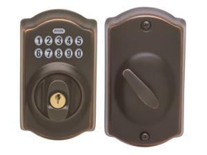 Schlage BE365VCAM716 Aged Bronze Camelot Keypad Deadbolt