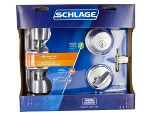 Schlage FB50VBEL626 Satin Chrome Entry Security Lock Set