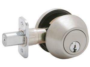 Dexter JD60V630 Satin Stainless Steel Single Cylinder Deadbolts