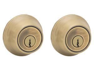 Kwikset 96650-391 Antique Brass Double Cylinder Deadbolt