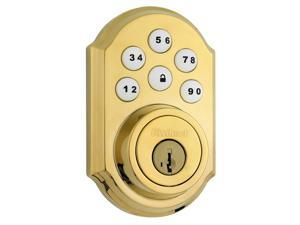Kwikset 909 L03 SMT CP SmartCode Electronic Single Cylinder Deadbolt feat SmartKey in Lifetime Polished