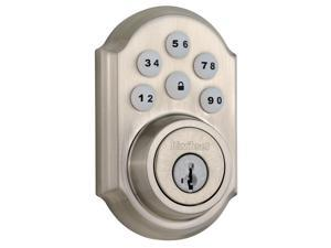 Kwikset 909 15 SMT CP SmartCode Electronic Single Cylinder Deadbolt feat SmartKey in Satin Nickel