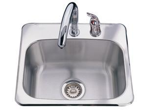 "Kindred BMSK802 8"" Stainless Steel Single Bowl Bar Sink"