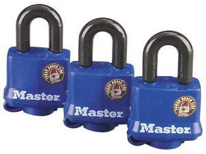 Master Lock 312TRI 3  Pack Weatherproof Padlock