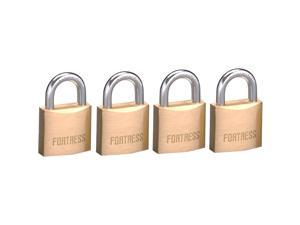 Fortress 1840Q 4 Count #1840 Solid Brass Padlock