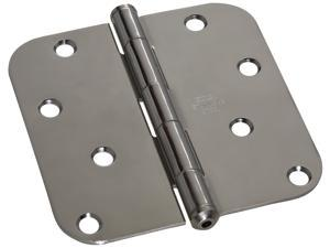 "STANLEY NATIONAL HARDWARE 4"" Bright Stainless Steel Round Corner Residential Hinge"