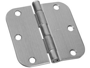 "STANLEY NATIONAL HARDWARE 2 Count 3.5"" Satin Nickel Interior Decor™ Round Corner Door Hinge"